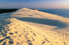 La Dune du Pyla, France.  It's the largest sand dune in Europe.