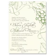 Vineyard Invitation - Unique Wedding Invitation by The Green Kangaroo