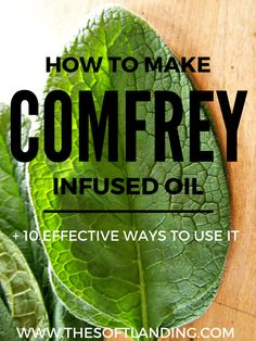 Learn how to make an easy comfrey infused oil so you'll have the ability to effectively address a wide variety of topical skin concerns and pain naturally!
