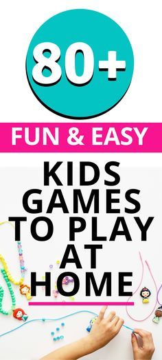 It's not always easy to think of screen free activities to entertain our kids. Here are easy games to play with kids any time, anywhere! Creative Activities For Kids, Printable Activities For Kids, Indoor Activities For Kids, Kids Learning Activities, Indoor Games, Easy Games For Kids, Games To Play With Kids, Fun Games, Games To Play Indoors