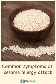 If you or someone you know has Sesame seed allergy, familiarize yourself with the common symptoms as well as the dishes, condiments, bread, and the likes that contain it. Sesame Allergy, Pastry Shop, Food Labels, Food Allergies, The Dish, Safe Food, New Recipes, The Cure, Bakery