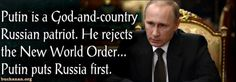 """""""If we were to use traditional measures for understanding leaders, which involve the defense of borders and national flourishing, Putin would count as the preeminent statesman of our time. """"On the world stage, who could vie with him?"""" So asks..."""
