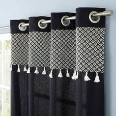 See related links to what you are looking for. Cotton Curtains, Diy Curtains, Decoration Evenementielle, Bedroom Drapes, Bedrooms, Caravan Decor, Modern Curtains, Ethnic Patterns, Curtain Designs