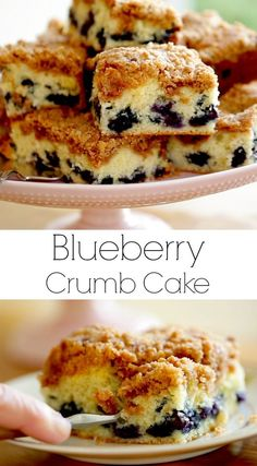 Great crumb cake recipe for a springtime brunch! Bursting with fresh blueberries and topped with a crunchy sweet crumb topping. Includes video tutorial.  #entertainingwithbeth #brunchrecipes #crumbcake #blueberry #blueberrycake