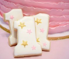Twinkle twinkle little star decorated cookies