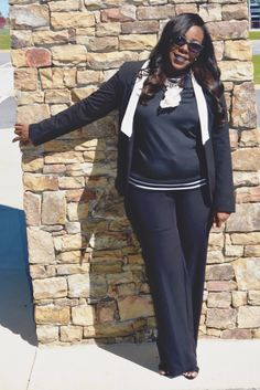 """Who said you can't have fun when you're taking care of business? Check out """"Sweatshirt + Black Slacks"""" on Ali's Fashion Sense at www.alifashionsense.blogspot.com before you start enjoying your weekend TGIF! #ootd #fashionblogger #f21xme"""