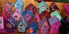 Funky Hand-Painted Furniture   Funky Home Decor: Hand Painted Birdhouses $29.95