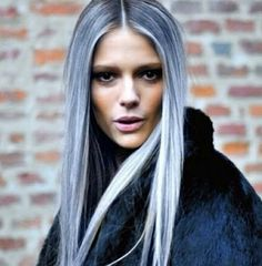 Love the blonde overtone using blue!!
