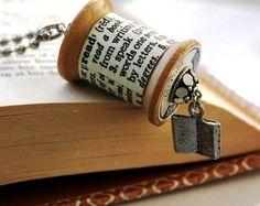 idea for wooden spool (bookmark)