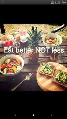 BETTER not LESS, but eating smaller portions is good if you struggle with eating too much food at a time