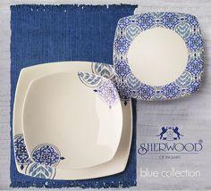 sherwood of england. England, Plates, Tableware, Blue, Fashion, Licence Plates, Moda, Dishes, Dinnerware