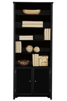 Oxford Single Bookcase with Cabinet - Bookcase - Bookshelves - Storage Solutions | HomeDecorators.com