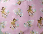 Bib for Baby or Toddler Pink Bambi and Thumper Handmade