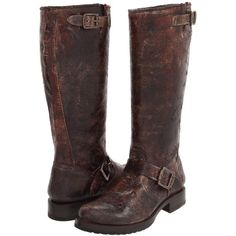 $348.00 Frye Veronica Slouch (Chocolate Vintage Leather) Women's Pull-on Boots