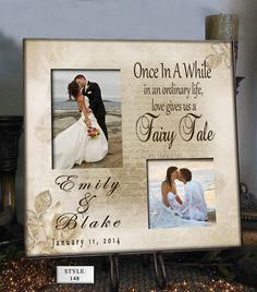 Personalized Wedding Photo Frame OIW 16x16  by PhotoFrameCompany, $69.00