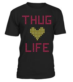# CROSS STITCH THUG LIFE T-SHIRT Cartoon F .  Click on drop down menu to choose your style, then pick a color. Click the BUY IT NOW button to select your size and proceed to order. Guaranteed safe checkout: PAYPAL | VISA | MASTERCARD | AMEX | DISCOVER.merry christmas ,santa claus ,christmas day, father christmas, christmas celebration,christmas tree,christmas decorations, personalized christmas, holliday, halloween, xmas christmas,xmas celebration, xmas festival, krismas day, december…
