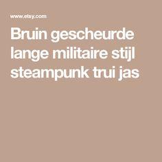 Bruin gescheurde lange militaire stijl steampunk trui jas
