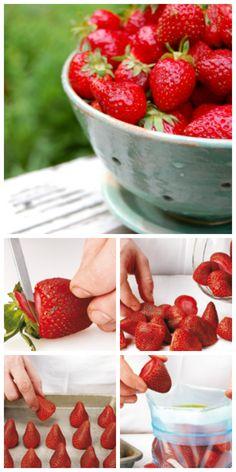 Comment congeler des #fraises