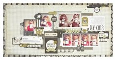 My Kids Scrapbooking Layouts, Scrapbook Pages, General Crafts, Page Layout, Craft Items, Embellishments, Photo Wall, Paper, Frame
