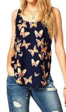 Butterfly Sleeveless Chiffon Tank Top $4.69   Closet of Free   Get FREE Samples by Mail   Free Stuff
