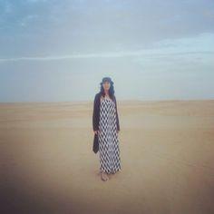 zigzags in the desert