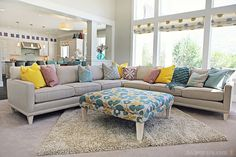 Love this beautiful custom sectional from 4-chairs.com.  #furniture #fourchairs