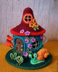 """Knit a heating pad on the kettle """"Fairy House"""". Part 2 - Fair Masters - handmade, handmade"""