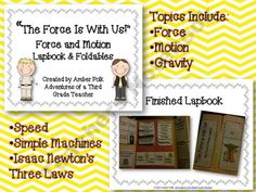 "AdventuresInThird Shop -""The Force is With Us!""- Force and Motion Lapbook & Foldables 