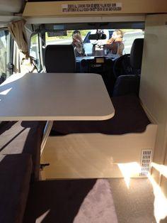 Toyota Landcruiser Pop Top Interior table