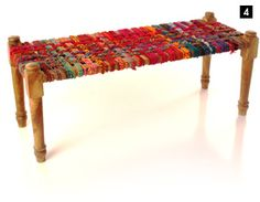 Really?  These things are cool! (woven rag bench)