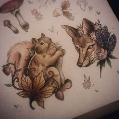 neo traditional tattoo fox - Google zoeken