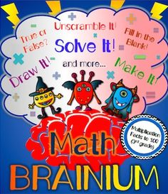 Ever played the board game Cranium? This multiplication version of the popular game gets kids using their ENTIRE brain while practicing multiplication facts to 100. In this fun multiplication board game, kids will work in teams to draw, sculpt, unscramble and solve their way to victory (and multiplication mastery)! $