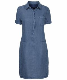 Marc O & # Polo - Vestido de mujer - vatteita , asusteita ym. Modest Dresses Casual, Simple Dresses, Short Dresses, Jean Dress Outfits, Jeans Dress, African Fashion Dresses, Dress Fashion, Womens Denim Dress, Frack