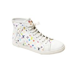 Louis Vuitton White Multicolor Monogram Sneakers