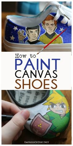 How To Paint Shoes How To Paint Shoes Turn Plain Canvas Shoes Into Wearable Works Of Art With These Tips And Recommended Resources How To Paint Canvas Shoes Complete Tutorial And Supply List For Transforming Plain Shoes Into Something Fabulous Painted Canvas Shoes, Painted Toms, Painted Sneakers, Hand Painted Shoes, Painted Converse, Painted Clothes, Cool Ideas, 31 Ideas, Shoes Rose Gold