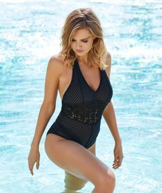 46424d91753 Luxe by Lisa Vogel Stripe Out Maillot Black Stripes, Perfect Fit, One Piece  Swimsuit