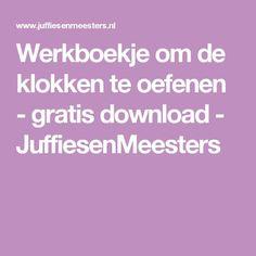 Werkboekje om de klokken te oefenen - gratis download - JuffiesenMeesters