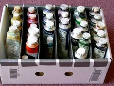 Handy dandy paint tube organizer...cheap! - WetCanvas
