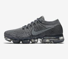 """Nike Announces an Official Release Date for the Air VaporMax """"Cool Grey"""": Style and performance in all the right amounts. Nike Shoes Air Force, Nike Air Vapormax, Nike Fashion, Sneakers Fashion, Cheap Fashion, Fashion Men, Army Green Nikes, Air Max Sneakers, Sneakers Nike"""