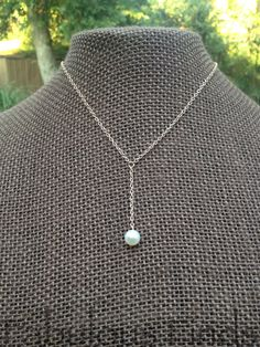 Classic Pearl and Gold Y Necklace by loveFabulousFinds on Etsy
