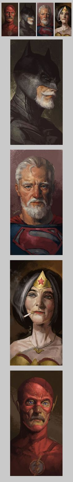 Old Superheroes: How Superheroes Will Look When They Retire