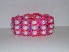 Beaded - Rainbow Loom Bracelet by rowena