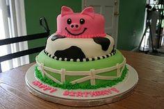 Farm Birthday Cake...so cute!