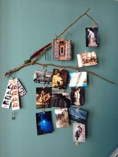 Creative way to display postcards and photos. Bachelor Pad (JDM)