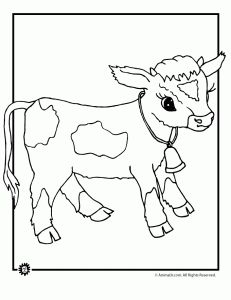 precious moments coloring pages cow - photo#10