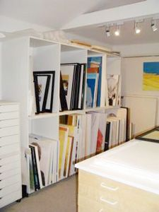 Art Studio Design Ideas learn how to make a home studio in any space and get functional studio decorating Storage Think This Might Work Better For Basement Though Art Studio