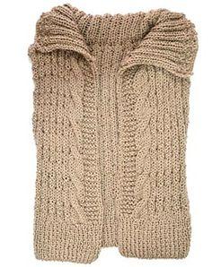 Colete com tranças em tricô