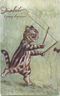 Diabolo - A young beginner | Louis Wain