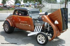 """Finders Keepers""  33 Willys Gasser Amazing That the Motor Fits Under The Hood & it isn't Cut!!"