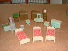 vintage Jean West Germany dolls house furniture various, bedroom, living room et | eBay